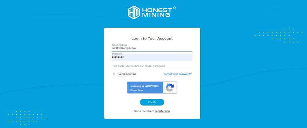 Login_Account_Honest_Mining