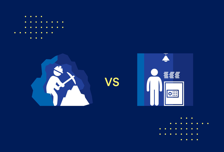 crypto mining vs crypto staking