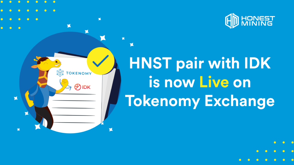 HNST New Pair IDK on Tokenomy