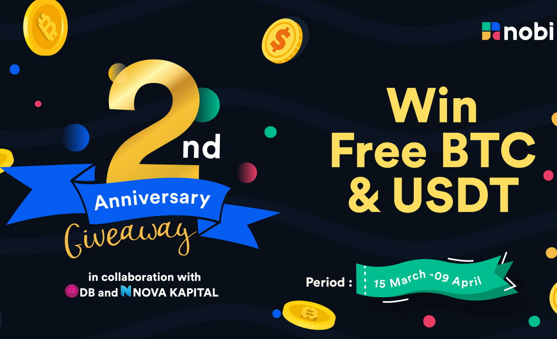 NOBI 2nd Anniversary BTC and USDT Giveaway